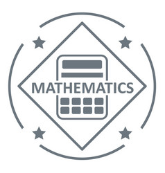 Mathematics logo simple gray style vector
