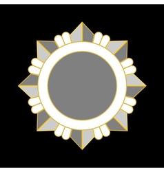 Medal award icon silver star vector