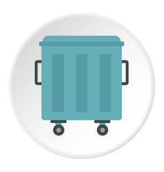 Metal trashcan icon circle vector
