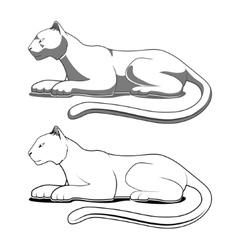 Panther emblem vector