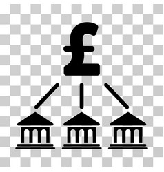 pound bank organization icon vector image