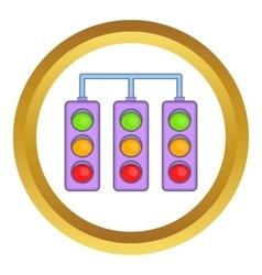 Racing traffic lights icon vector