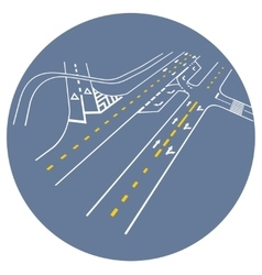 Road markings junction vector