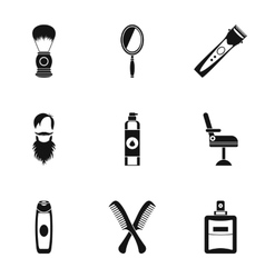 Salon icons set simple style vector