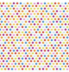 Seamless background pattern with multicolored dots vector