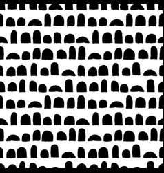 Seamless pattern with brush strokes black vector
