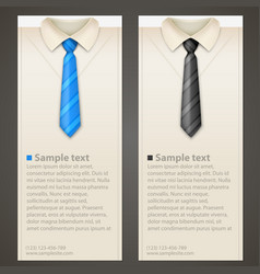 shirt and tie business card vector image vector image