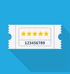 ticket icon vector image vector image