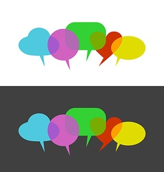 Transparent color speak bubbles vector image