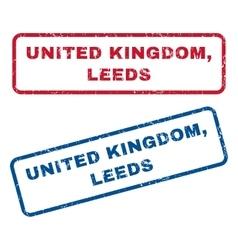 United kingdom leeds rubber stamps vector