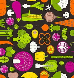 Vegetable seamless vector