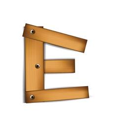wooden type e vector image vector image