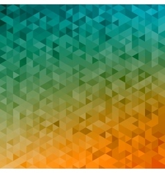 Polygonal abstract background - yellow orange vector