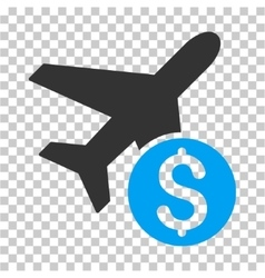 Airplane price icon vector