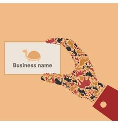 Animal a hand vector image
