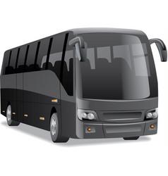 black city bus vector image