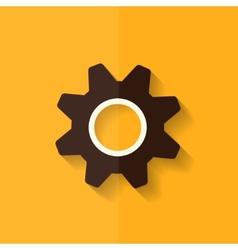 Settings icon gear symbol tools flat design vector