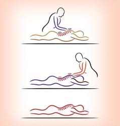 Spa massage treatment vector