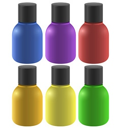 Colourful ink bottles vector