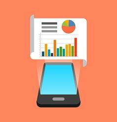Smartphone data infographic app concept isometric vector