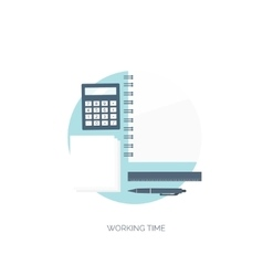 Flat background workplace vector