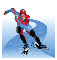ice skater vector image