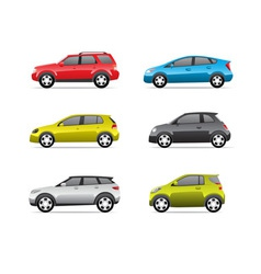 Cars icons set part 2 vector