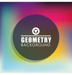 Geometry multicolored background design vector