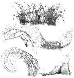 Splashes of water vector