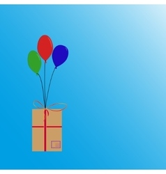 Balloons flying with box vector