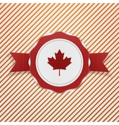 Canada patriotic tag with ribbon vector