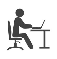 Working in office vector