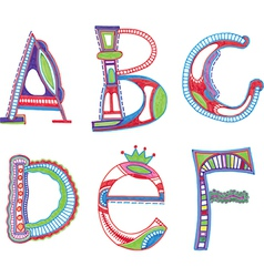 ABC font Sketchy alphabet design vector image vector image