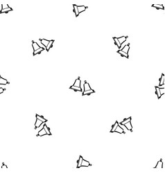 Bells pattern seamless black vector