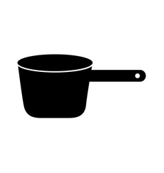Black cooking pot graphic design vector