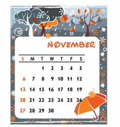 Calendar november vector