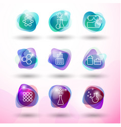 Chemistry icons set vector
