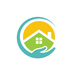 Circle home buildings vector