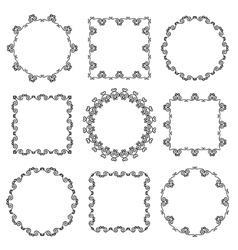 Collection of hand drawn ornamental frames vector image vector image