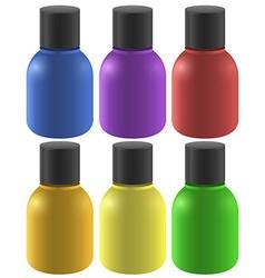 Colourful ink bottles vector image