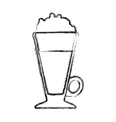 Delicious cold coffee vector