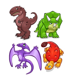 dinosaurs set one vector image vector image