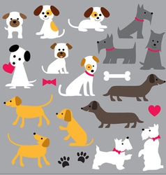 Dogs clipart vector