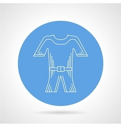 Flat round icon for wetsuit vector