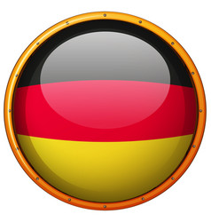 Germany flag on round button vector