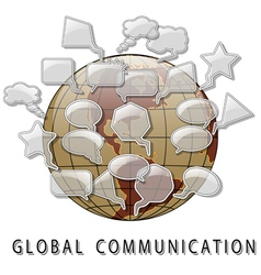 Global Communication vector image vector image