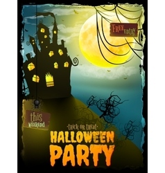 Halloween Party night with house EPS 10 vector image