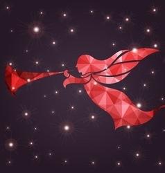 Holidays christmas angel vector image