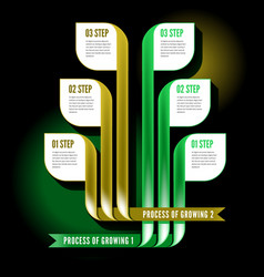 Infographics process vector image vector image