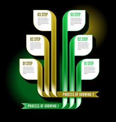 Infographics process vector